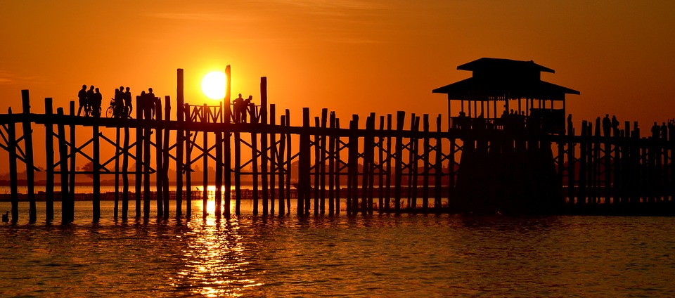 Sunset from U Bein Bridge