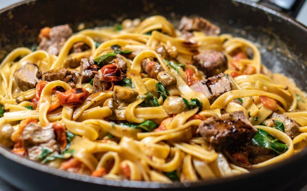 pasta in an Italian restaurant