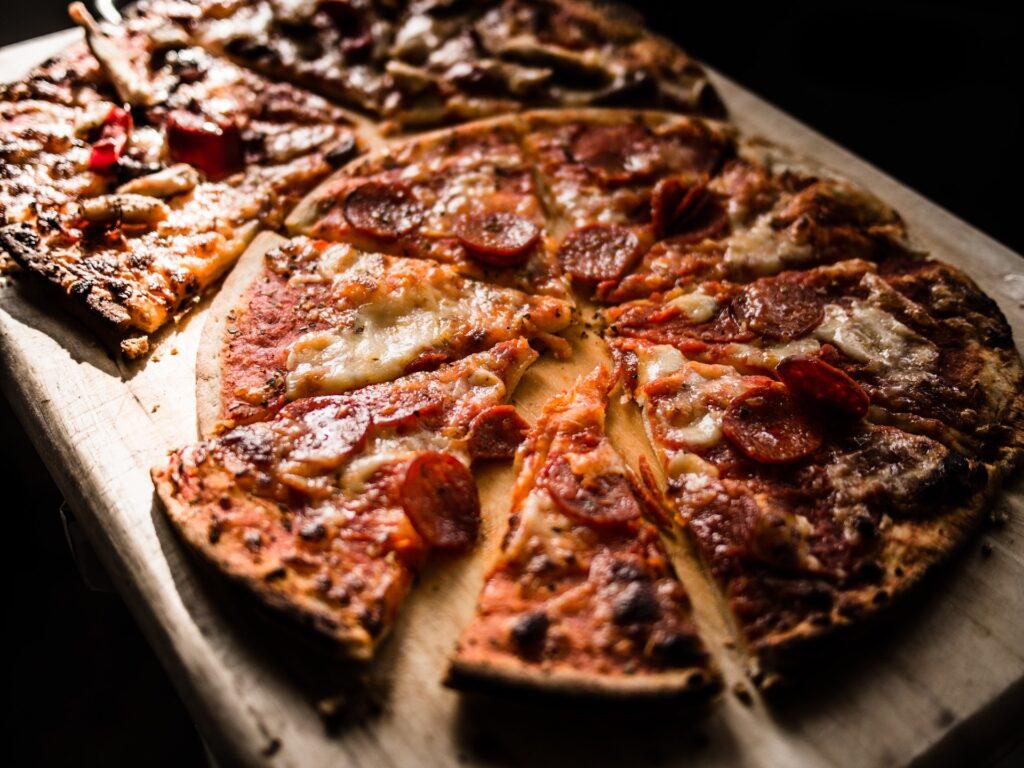 pizza in Italian restaurant